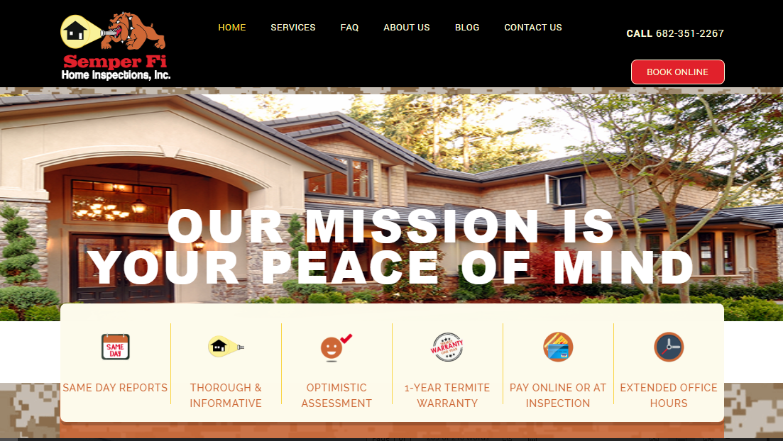 New Semper Fi Home Inspections Website Launched – Semper Fi