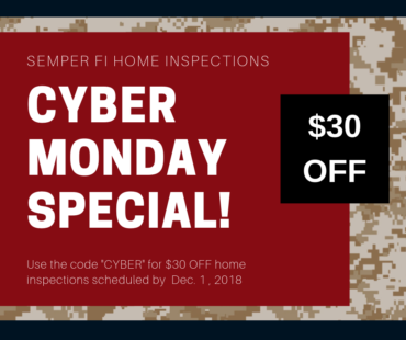 Cyber Monday Special on Home Inspections!
