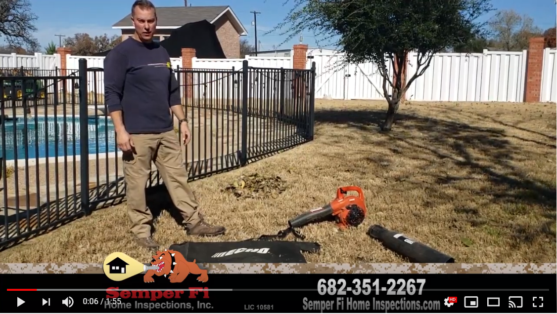 Leaf Blower Trick from Semper Fi Home Inspections