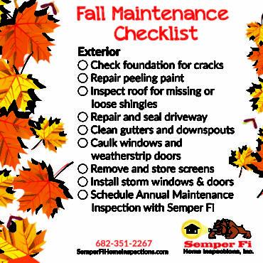 Fall Maintenance Checklist: Exterior