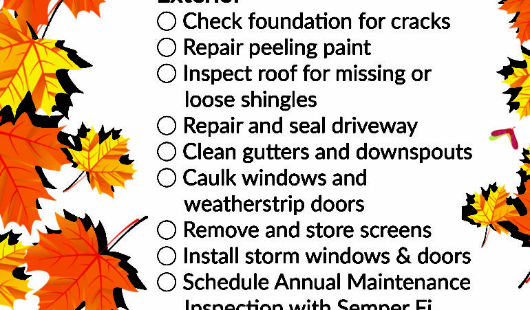 Fall Maintenance Checklist: Exterior