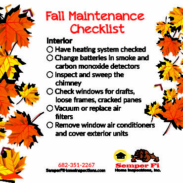 Fall Maintenance Checklist: Interior