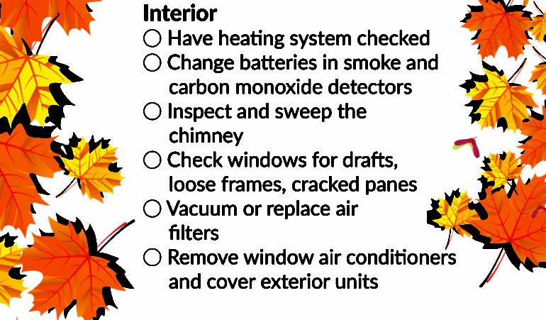 Fall Maintenance Checklist: Interior