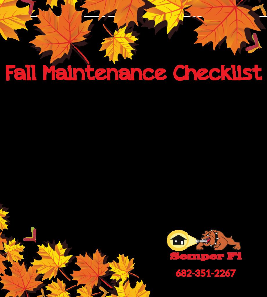 fall maintenance checklist yard