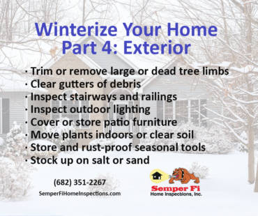 Winterize Your Home Part 4: Exterior