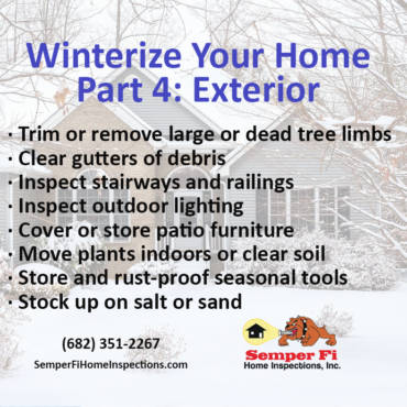 Winterize Your Home Part 4: Exterior