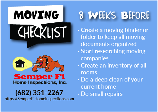 Moving Checklist – 8 Weeks Before Move