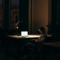 sitting in the dark